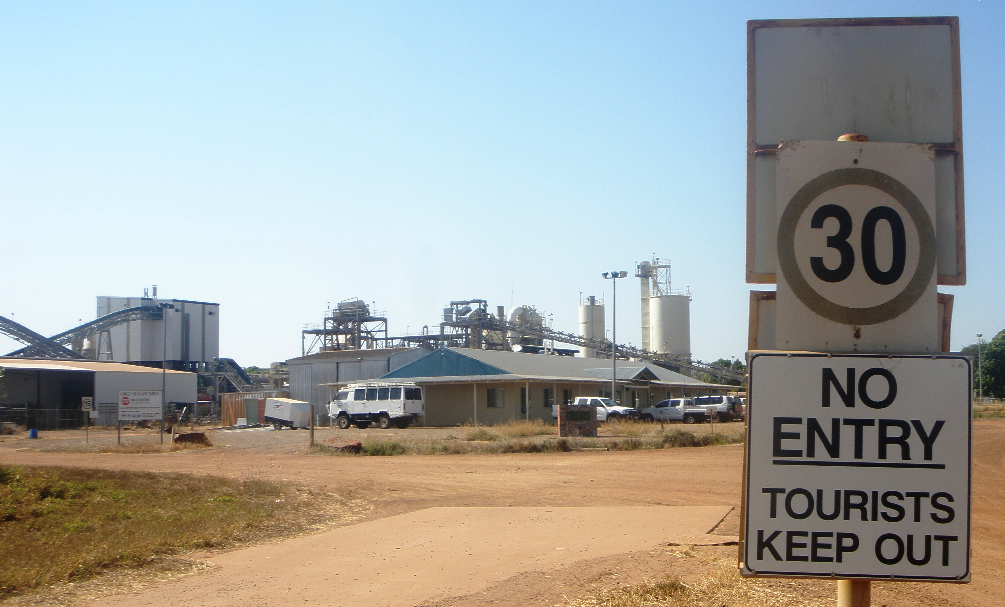 Ord sugar mill, now leased by a sandlewood company
