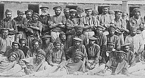 Aboriginal men from all over Western Australia imprisoned at Rottnest Island
