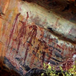 Gwion Gwion rock paintings, Oomarri (images courtesy Ambrose Mungala Chalarimeri; photographs by Richard Downs)